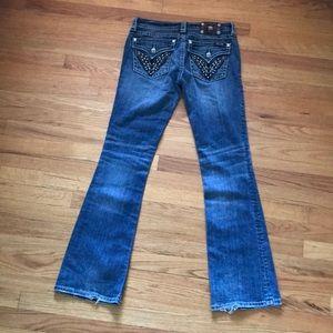 Miss Me Signature Boot Flap Pocket Jeans
